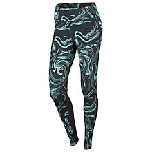 Buy Nike Power Epic Lux Running Tights, Seaweed Online at johnlewis.com