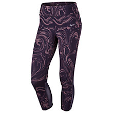 Buy Nike Power Epic Lux Cropped Running Tights, Purple Dynasty/Silver Online at johnlewis.com