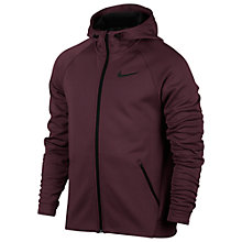 Buy Nike Therma Sphere Training Hoodie, Night Maroon/Black Online at johnlewis.com