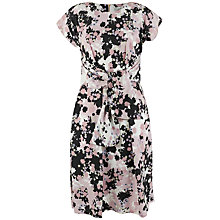 Buy Closet Tie Front Short Sleeve Dress, Multi Online at johnlewis.com