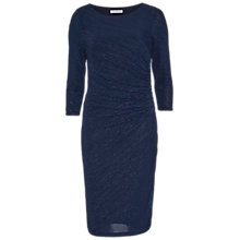 Buy Gina Bacconi 3D Metallic Stripe Knitted Dress, Dark Blue Online at johnlewis.com