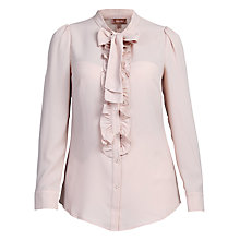 Buy Jolie Moi Bow Tie Neck Ruffle Front Shirt Online at johnlewis.com