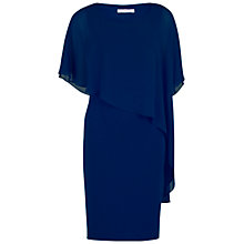 Buy Gina Bacconi Moss Crepe Dress And Chiffon Cape, Navy Online at johnlewis.com
