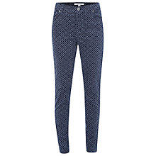 Buy White Stuff Tori Printed Cord Treggings, Mount Blue Online at johnlewis.com