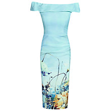 Buy Jolie Moi Pattern Bardot Neck Dress, Blue Online at johnlewis.com