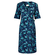 Buy East Marie Print Jersey Dress, Teal Online at johnlewis.com