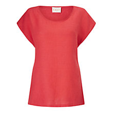 Buy East Combination Linen Top, Hibiscus Online at johnlewis.com