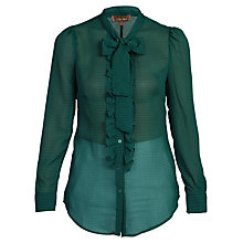Buy Jolie Moi Check Frilly Shirt, Green Online at johnlewis.com