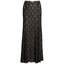 Buy Gina Bacconi Lace Fishtail Maxi Skirt, Black Online at johnlewis.com