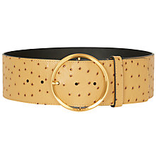 Buy Karen Millen Lux Round Buckle Leather Belt Online at johnlewis.com