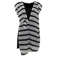 Buy Mint Velvet Stripe Asymetric Tunic, Multi Online at johnlewis.com