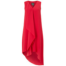 Buy Adrianna Papell Asymmetric Front Drape Dress, Flare Red Online at johnlewis.com