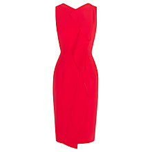 Buy Karen Millen Subtle Ruffle Dress, Red Online at johnlewis.com