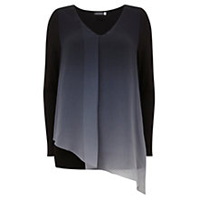 Buy Mint Velvet Asymmetric Tunic Top, Ombre/Multi Online at johnlewis.com