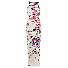 Buy Karen Millen Oriental Print Maxi Dress, Multi Online at johnlewis.com