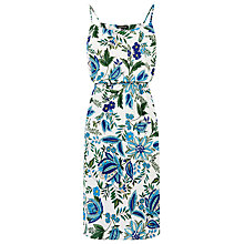 Buy Warehouse Botanical Drawn Floral Dress, Neutral Print Online at johnlewis.com