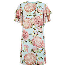 Buy Warehouse Pom Pom Print Shift Dress, Light Blue Online at johnlewis.com