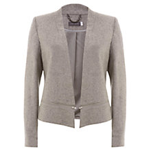 Buy Mint Velvet Flannel Crop Tuxedo Jacket, Grey Online at johnlewis.com