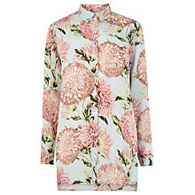 Buy Warehouse Pom Pom Print Shirt, Light Blue Online at johnlewis.com