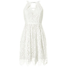 Buy Adrianna Papell Sleeveless Fit And Flare Lace Cocktail Dress, Ivory Online at johnlewis.com