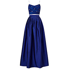 Buy Adrianna Papell Two Piece Top With Taffeta Skirt Gown, Neptune Online at johnlewis.com