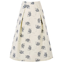 Buy Warehouse Stem Floral Prom Skirt, Cream Online at johnlewis.com