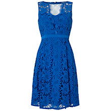 Buy Adrianna Papell Inset Fit And Flare Dress, Royal Blue Online at johnlewis.com