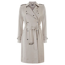 Buy Mint Velvet Textured Trench Coat, White Online at johnlewis.com