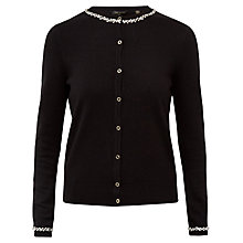 Buy Ted Baker Lorina Embellished Cardigan, Black Online at johnlewis.com