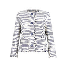 Buy Hobbs Isobella Jacket, Ivory/Navy Online at johnlewis.com