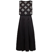 Buy Ted Baker Oppall Embellished Bodice Midi Dress, Black Online at johnlewis.com