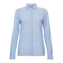 Buy Hobbs Lillymae Shirt, Pale Blue Online at johnlewis.com