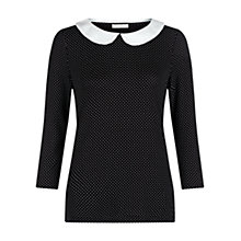 Buy Hobbs Alyssia Top, Black/Ivory Online at johnlewis.com