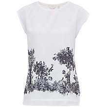 Buy Ted Baker Woodland Toile Woven T-Shirt, White Online at johnlewis.com