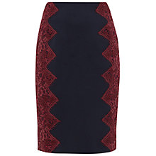 Buy Ted Baker Queeny Scalloped Lace Edge Pencil Skirt, Navy Online at johnlewis.com
