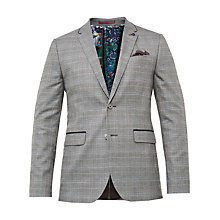 Buy Ted Baker Cagney Check Blazer, Grey Online at johnlewis.com