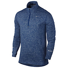 Buy Nike Dri-FIT Element Half-Zip Long Sleeve Running Top, Royal Blue/Reflective Silver Online at johnlewis.com