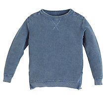 Buy Angel & Rocket Denim Wash Sweatshirt, Blue Online at johnlewis.com