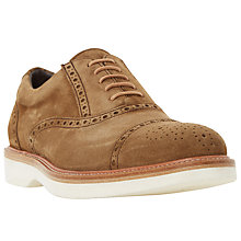 Buy Dune Rafael Sand Suede Wedge Brogue, Sand Online at johnlewis.com