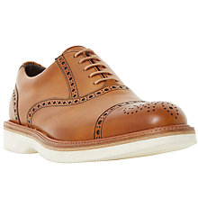 Buy Dune Rafael Wedge Brogues, Tan Online at johnlewis.com