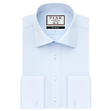 Buy Thomas Pink Frederick Plain XL Sleeve Double Cuff Slim Fit Shirt, Pale Blue Online at johnlewis.com