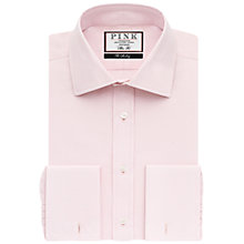 Buy Thomas Pink Frederick Plain Double Cuff Slim Fit Shirt Online at johnlewis.com