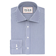 Buy Thomas Pink Ferguson Stripe XL Sleeve Classic Fit Shirt, White/Navy Online at johnlewis.com