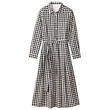 Buy Toast Double Faced Gingham Shirt Dress, Black/Ecru Online at johnlewis.com