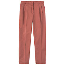 Buy Toast George Pleat Front Trousers, Old Rose Online at johnlewis.com