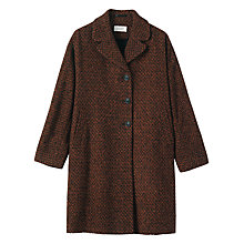Buy Toast Flora Tweed Coat, Auburn/Black Online at johnlewis.com