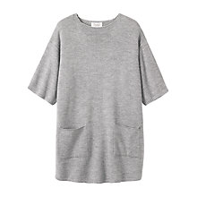 Buy Toast Merino Wool Tunic Dress, Grey Melange Online at johnlewis.com