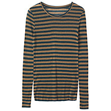 Buy Toast Fine Wool Tencel Stripe T-Shirt Online at johnlewis.com