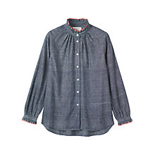 Buy Toast Cotton Khadi Shirt, Chambray Blue Online at johnlewis.com