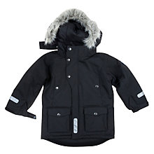 Buy Polarn O. Pyret Children's Parka Coat, Black Online at johnlewis.com